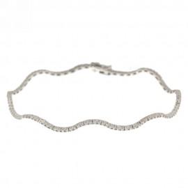 Bracciale in oro bianco 18Kt 750% modello tennis semirigido