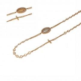 Girocollo rosario in oro rosa 18ct 750%