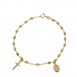 Bracciale rosario in oro giallo 18Ct 750% unisex gr 3.40