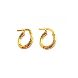 Orecchini cerchi in oro giallo 18Kt - 750% unisex