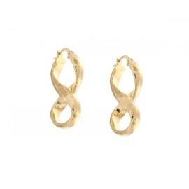 Orecchini cerchi in oro giallo 18Kt - 750% da donna