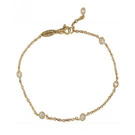 Bracciale in oro giallo 18kt 750% con zirconi bianchi incastonati unisex
