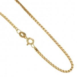 Collana in oro giallo 18Ct 750% modello veneziana unisex gr 10,20