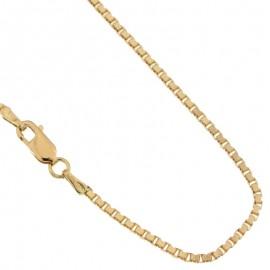 Collana in oro giallo 18Ct 750% modello veneziana unisex gr 14.00