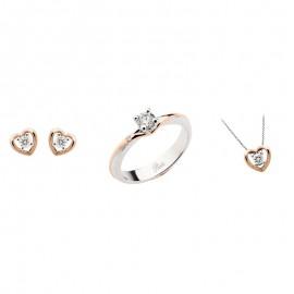 Parure in oro 18Ct e diamanti Polello donna