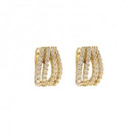 Orecchini in Oro giallo 750% con zirconi bianchi da donna