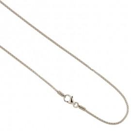 Collana in oro bianco 18Kt 750/1000 maglia coda di topo lucida unisex