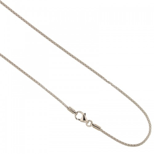 White gold 18kt 750/1000 timothy chain shiny unisex necklace