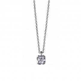 White gold 18k with diamond woman necklace 0.30 ct