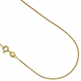 Collana in oro giallo 18Kt 750/1000 modello veneziana 40 cm