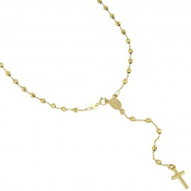 Yellow Gold 18k Type Y Rosary Necklace