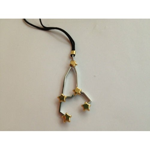 Stainless steel, yellow gold plated necklace
