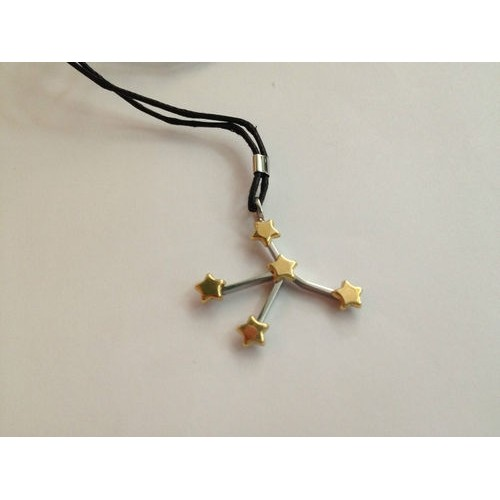 Brosway stainless steel, yellow gold necklace, unisex BCZ04