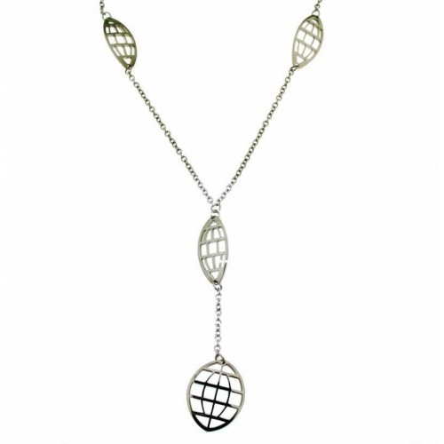 Stainless steel, shiny necklace Zable ledies Q7051