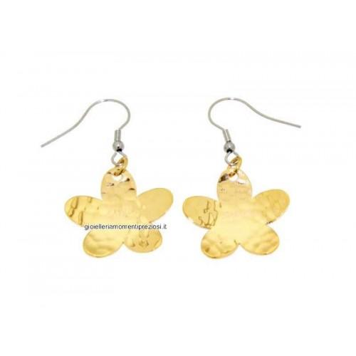 Stainless steel, flowers earrings Zable ledies R7023