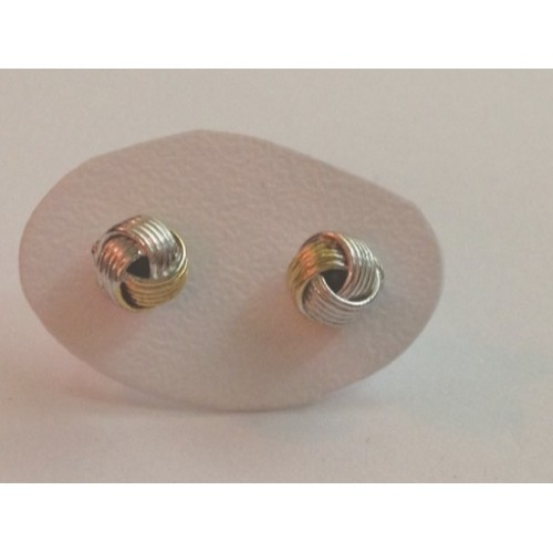 925 sterling silver earrings, yellow gold plated