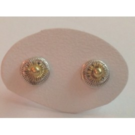 925 sterling silver earrings, yellow gold plated, ledies