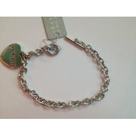 Bracciale in argento lucido 925% con ciondolo cuore