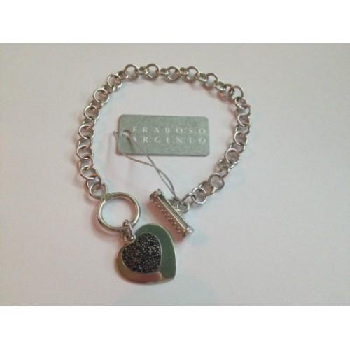 925 sterling silver, bracelet, heart-shaped pendants
