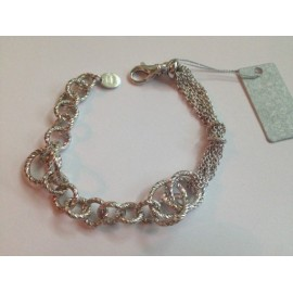 Bracciale in argento 925% rodiato lucido