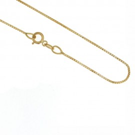 Yellow gold 18kt 750/1000 shiny vbenetian chain unisex necklace
