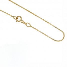 Collana in oro giallo 18Kt 750/1000 catena veneziana lucida unisex
