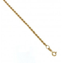 Yellow gold 18Kt 750/1000 interlaced chain shiny woman bracelet