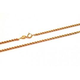 Collana in oro giallo 18Kt - 750% a maglia intrecciata