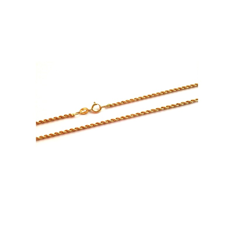 molto carino 196a0 32013 Collana in oro giallo 18Kt - 750% a maglia intrecciata