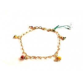 Yellow gold 18Kt 750/1000 with pendants child bracelet
