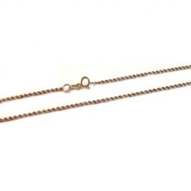 Collana in oro bianco 18Kt - 750% a maglia intrecciata rodiata