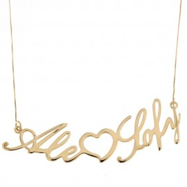 Yellow gold 18Kt 750/1000 name woman necklace