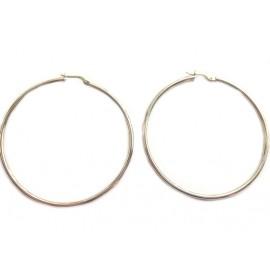 Orecchini cerchi in oro bianco 18Kt - 750% da donna