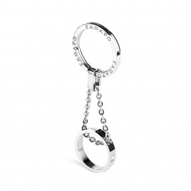 S'agapõ stainless steel, white crystal key ring SBS02
