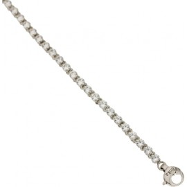 White gold 18Kt 750/1000 with white and blue cubic zirconia unisex bracelet