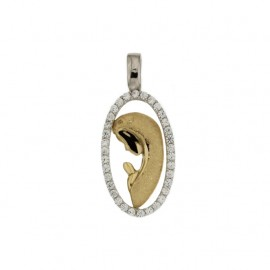 Yellow and white gold 18Carat Virgin Mary pendant, gr 2.30
