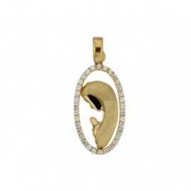 Yellow gold 18Carat Virgin Mary pendant, gr 2.30