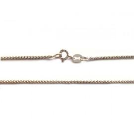 Collana in oro bianco 18Kt 750% maglia coda di topo