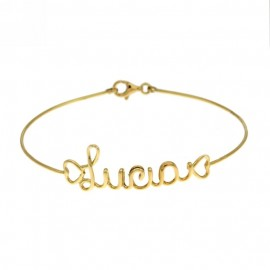 Yellow gold 18Kt 750/1000 with name Lucia shiny bracelet