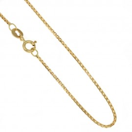 Yellow gold 18 carat, unisex, venetian chain 4.40 grams length: 17.7 inch
