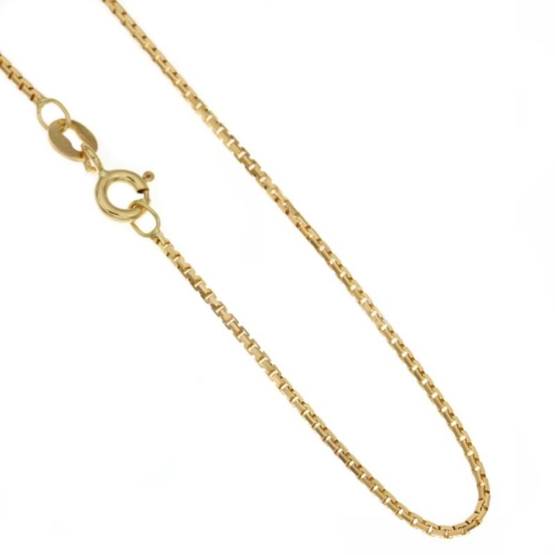 Collana in oro giallo 750/1000 18Kt modello veneziana 45cm