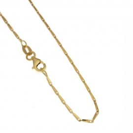 Yellow gold 18kt 750/1000 fantasy chain shiny unisex necklace