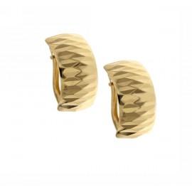 Orecchini in oro giallo 18Ct chiusura a monachina stampati da donna