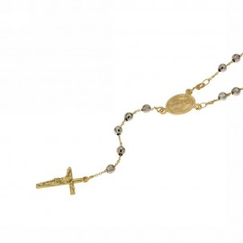 Yellow and white gold Rosary necklace 18Carat