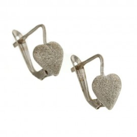 White gold 18Carat heart earrings, woman
