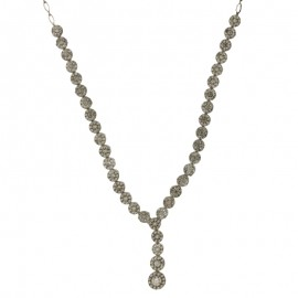 White gold 18Carat type tennis necklace, woman-bride