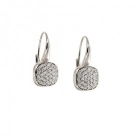 White gold 18Carat pendant earrings, woman