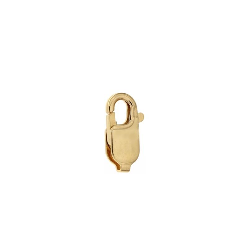Chiusura moschettone in oro giallo 18Kt 750/1000 antistrappo gr 1.41