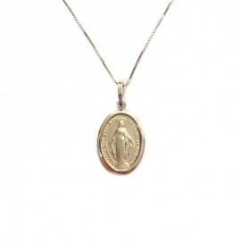White gold 18Kt 750% necklace with Virgin Mary