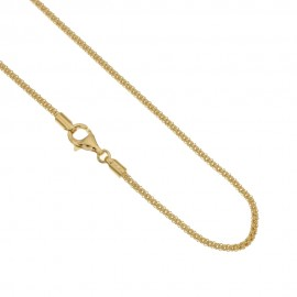 Collana in oro giallo 750% 18Kt unisex Catena Pop-Corn